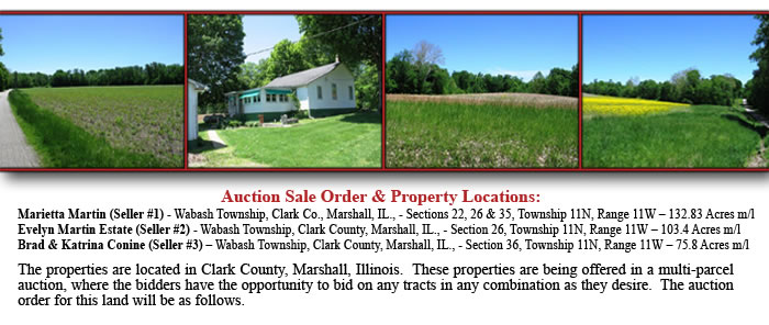 IL Land Auctions - 312 Acres - 13 Tracks