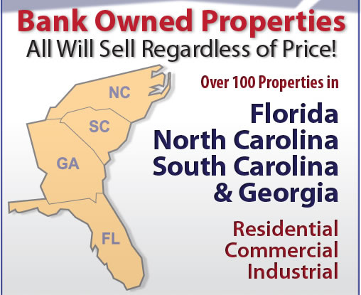 Upcoming FL, NC & SC Bank-Owned Auctions