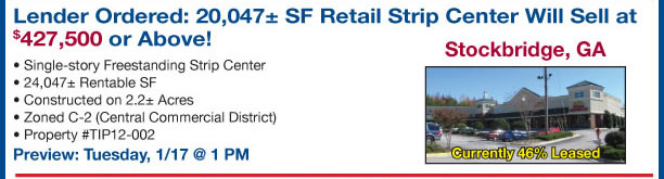 3 GA Retail Strip Centers & Restaurant