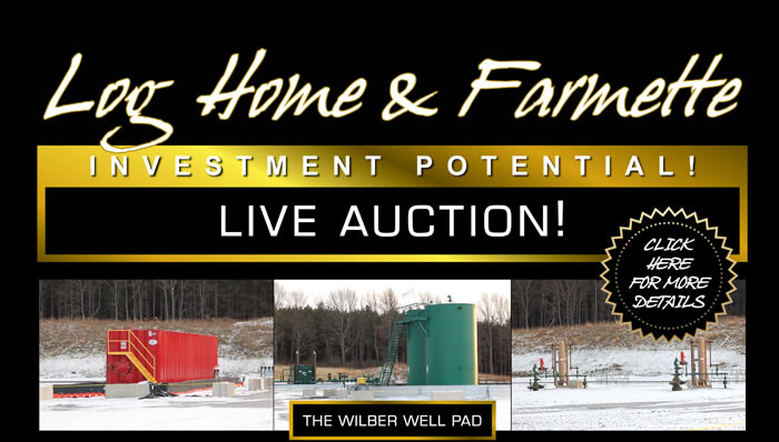 Live Auction - Log Home, Farmette and Gas Production Property - PA