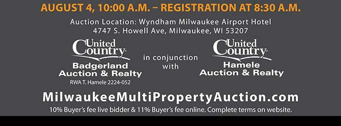 Court Ordered Wisconsin Multi-Property Auction