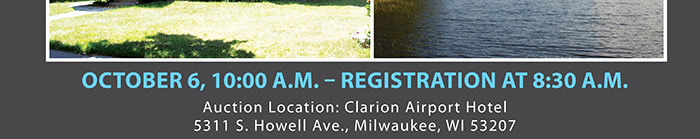 Live & Online Wisconsin Multi-Property Auction