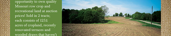 MO Auction Farm and Hunting Land
