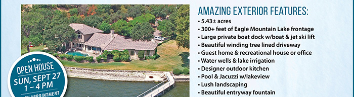 TX Lakefront Home Auction