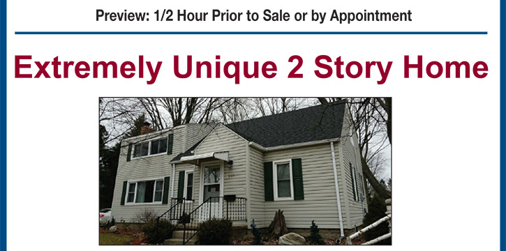 On-site November Auctions: (2) Michigan Homes