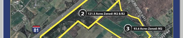224 Acres Bordering I-81 | Offered in Pacels & Whole - VA