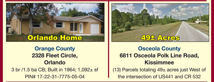Florida - Lots, Home & Commercial Acreage