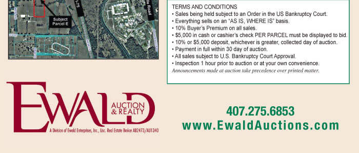 2 FL Land Auctions - United States Bankruptcy