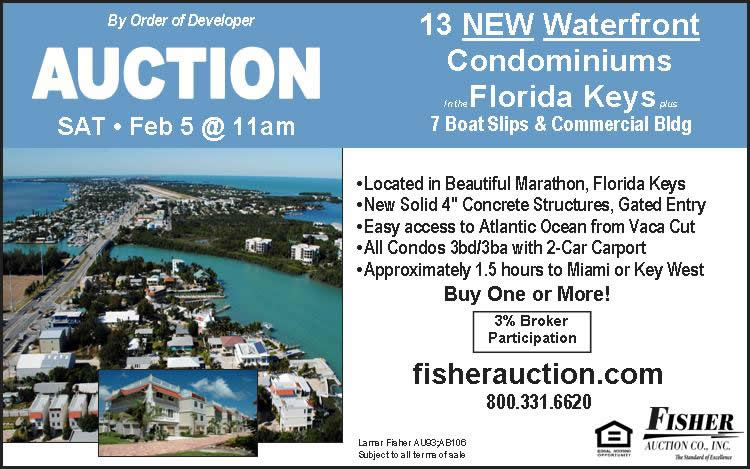 Auction-13 Fla Keys Condos