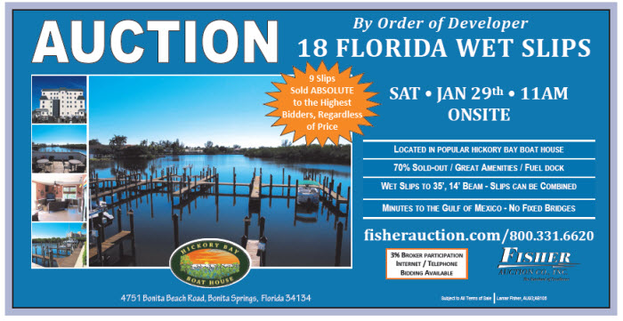 Auction-SW Fla Boat Slips