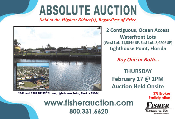 Absolute FL Auction - 2 Waterfront Residential Lots