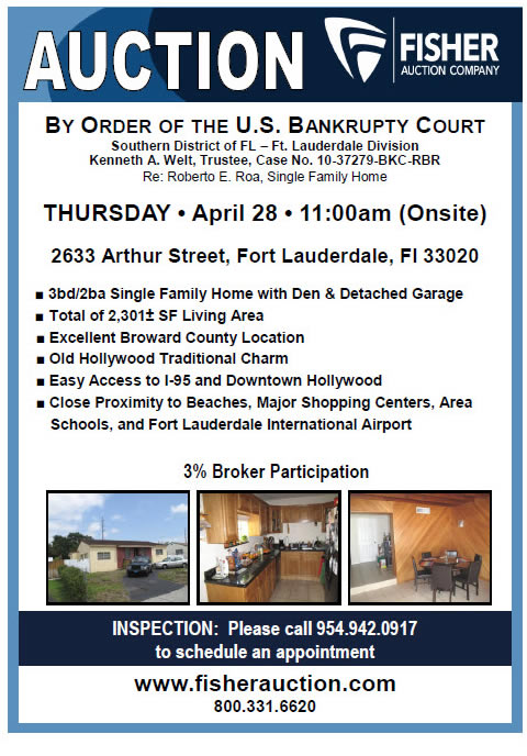 Bankruptcy Auction – House in Hollywood FL