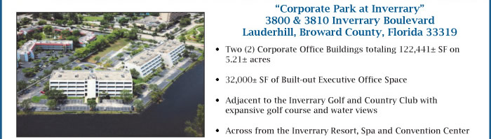 Lender Ordered Auction of 2 Corporate FL Office Buildings
