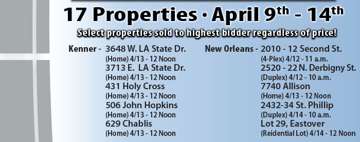 17 properties, New Orleans, LA