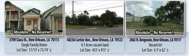 23 Absolute Homes, Duplexes, Commercial and Land in New Orleans