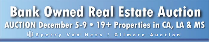 Bank Owned Real Estate - 19+ Props in CA, LA & MS