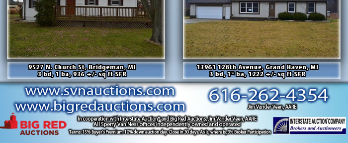 8 Properties in Michigan - Selling Absolute!