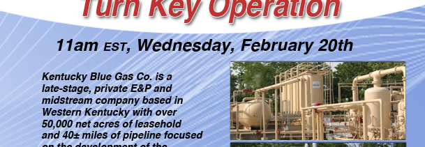 Turn Key Natural Gas & OIl Facility - KY