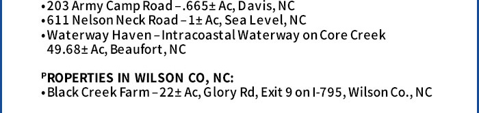 Waterfront & Development Real Estate Sale in NC