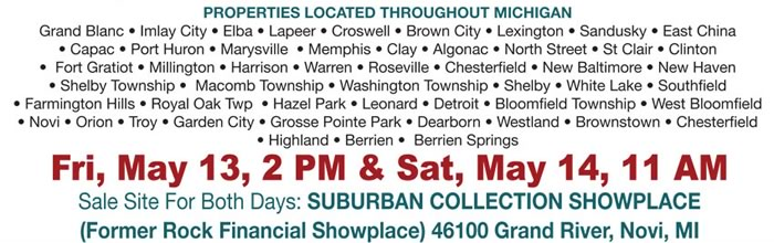 Michigan FDIC Auction - 70+ Residential & Commercial