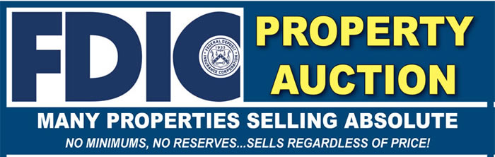 FDIC 3 Day Auction in Georgia & North Carolina