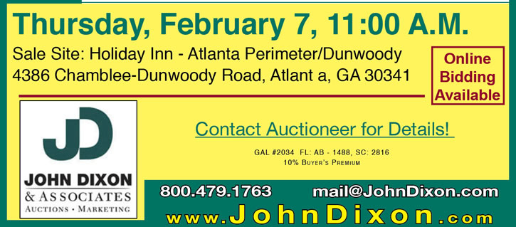 Tri-State Mortgagees Auction - GA, FL & SC