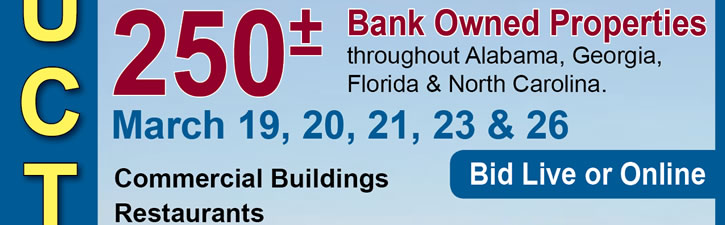 250+/- Bank Owned Properties in GA, FL, NC, AL