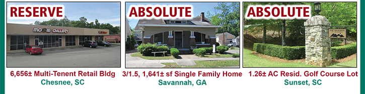 Absolute Auction: 120 Bank Owned Properties in GA, NC & SC