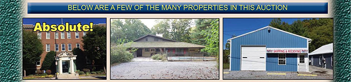 Absolute Auction: 25+/- Properties in MD, NJ, OH, PA, VA & WV!