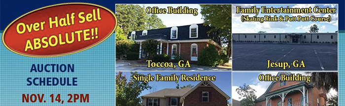 MAJOR SOUTHEAST AUCTION: 320+/- Properties in 150+/- Offerings in AL, FL, GA, NC, SC & TN!