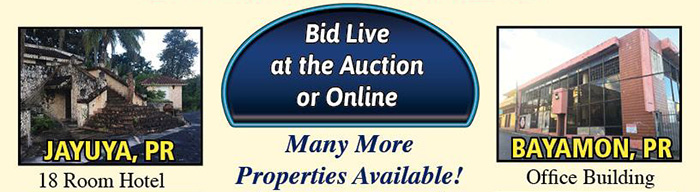Puerto Rico Real Estate Auction - 40 Incredible Properties