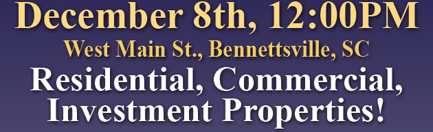 SC Multi-Property Auctions - Res, Com and Investment Properties