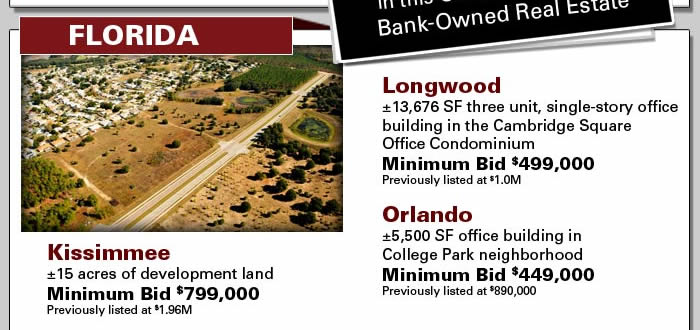 Bank-ordered auction of development land and offices