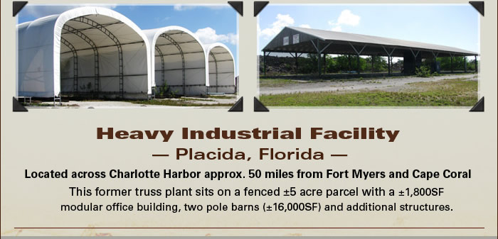Heavy industrial facility near Fort Myers, FL