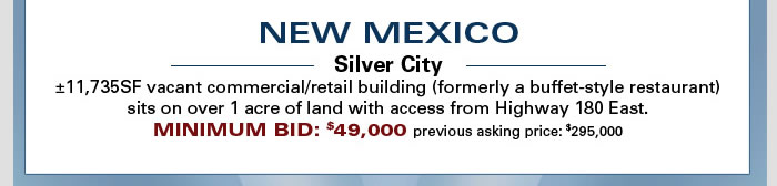 CA, AZ and NM bank-owned properties