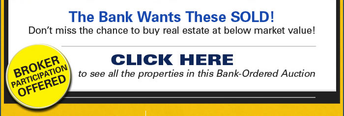 Final call for bids on bank-owned properties in northern CA