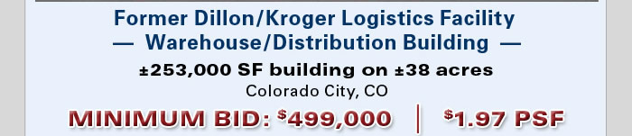 Former Dillon-Kroger facility in CO under $2.00 PSF