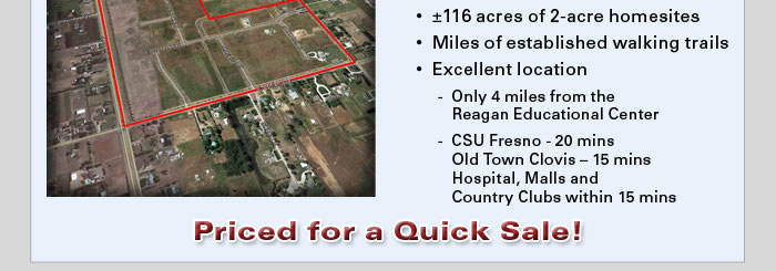 Bank-owned finished lots in central CA