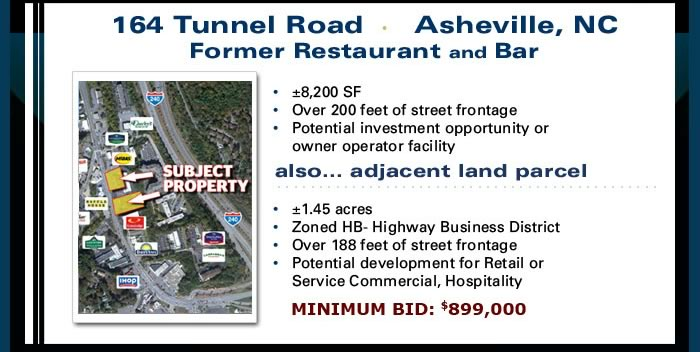 Bank-owned land, lots and restaurant in TN/NC