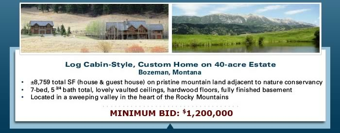 Multiple lender-owned property auction - AZ, CO, MT, NC