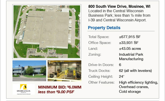 Manufacturing/Distribution Facilities priced under $9 psf | WI, UT