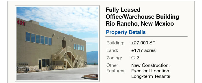 NNN Investment - Office Bldg in NM