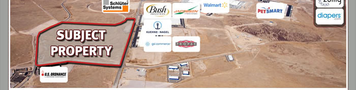 104 acres in Tahoe Reno Industrial Center starting at $1 p/SF - NV