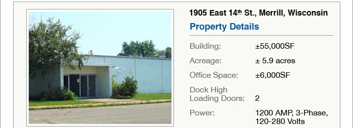 Motivated seller - less than $5.00p/SF light industrial bldg - WI