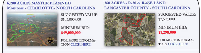 Huge Land Portfolio - North & South Carolina