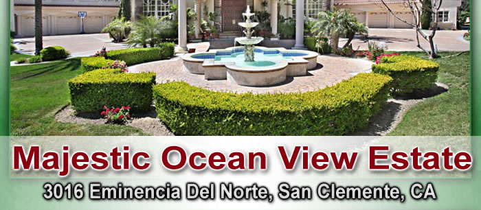 Majestic Ocean View Estate in San Clemente, CA