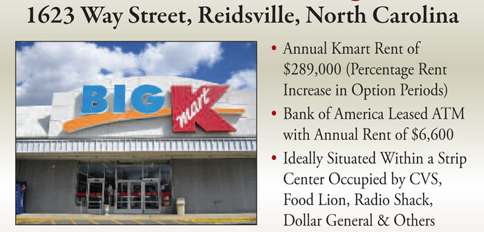 Bankruptcy: NNN Leased Kmart - 86,000 Sq Ft - NC