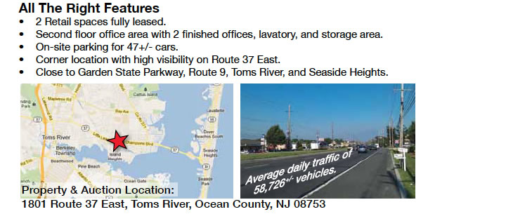 5,960 +/- Sq. Ft. Retail Building in Toms River, NJ