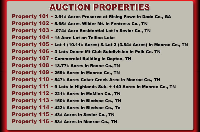 16 Properties in 9 Counties ( TN and GA)