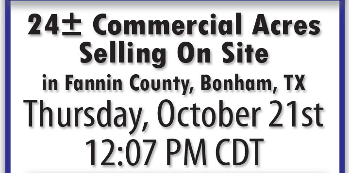 24 +/- Commercial Acres - Bonham, TX
